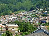 Residential areas in  batu hill, malang