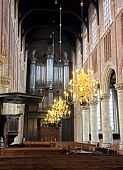 Interior Of Church Nieuwe Kerk In City Delft, Netherlands