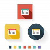 Calender Flat Icon Design