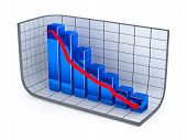 Growth Bar Chart And Red Arrow