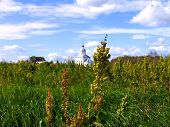 A Small Church On A Green Summer Meadow, Suzdal, Russia
