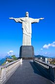 RIO DE JANEIRO, BRAZIL - MARCH 13, 2013: Christ the Redeemer statue