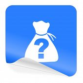 riddle blue sticker icon