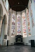 Protestant Church - Oude Kerk In City Delft, Netherlands