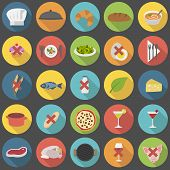 Chef's flat icon set