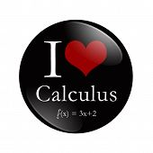 I Love Calculus Button