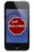 Cell Phone With Stop Bullying Message