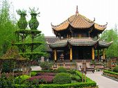 Qing Yang Gong Temple (green Goat Palace) In Chengdu, China