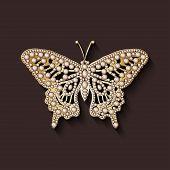 pearl brooch butterfly