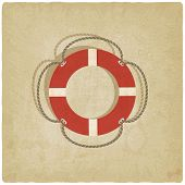 lifebuoy symbol old background