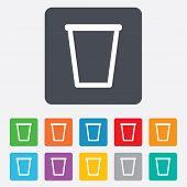 Recycle bin sign icon. Bin symbol.