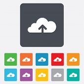 Upload to cloud icon. Upload button.