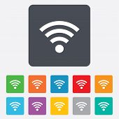 Wifi sign. Wi-fi symbol. Wireless Network.