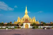 Pha That Luang, Great Stupa in Vientine, Laos