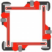 Pipe Wrench Photo Frame