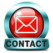 contact address icon or button. Write or mail address email or postbus coordinates