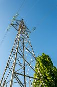 picture of electricity pylon  - High voltage Electricity Pylons - JPG