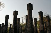 stock photo of polonnaruwa  - Pillars. Ruins. Ancient city of Polonnaruwa. Sri Lanka
