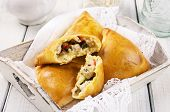 baked samosa with chicken