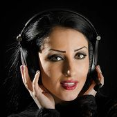 Attractive Woman With Headset