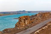 picture of euphrates river  - Halabia is situated on the Euphrates as part of the Silk Road network until the downfall of Palmyra following the defeat of queen Zenobia at the hands of the Romans - JPG