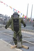 Bomb squad suit on display during Fleet Week 2014