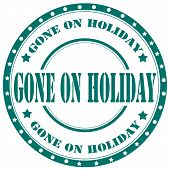 Gone On Holiday-stamp