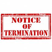 stock photo of terminator  - Grunge rubber stamp with text Notice Of Termination - JPG