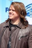 LOS ANGELES - MAY 21:  Caleb Johnson at the American Idol Season 13 Finale at Nokia Theater at LA Live on May 21, 2014 in Los Angeles, CA
