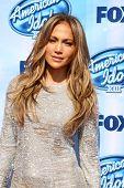 LOS ANGELES - MAY 21:  Jennifer Lopez at the American Idol Season 13 Finale at Nokia Theater at LA L