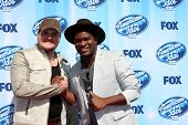 LOS ANGELES - MAY 21:  Dexter Roberts, C.J. Harris at the American Idol Season 13 Finale at Nokia Th