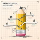 Hand Draw Style Vector Infographic Elements