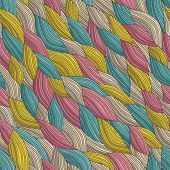 Funky Waves Seamless Pattern
