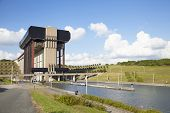 Strepy-thieu Boat Lift On The Canal Du Centre