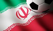 Iranian flag, football