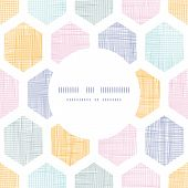 pic of honeycomb  - Vector abstract colorful honeycomb fabric textured frame seamless pattern background - JPG