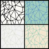 Geometric Abstract Seamless Polygonal Background Set