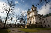 KRAKOW, POLAND - FEB 17, 2014: Church of St.Stanislaus Bishop. Built 1472, In 1733-1751 the church r