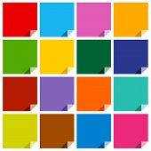 16 colored blank squares