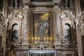 Barroco church of the Gesu Nuovo, Naples, Italy