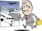 Airport travel cartoon