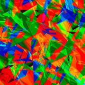 Chaotic Colorful Art