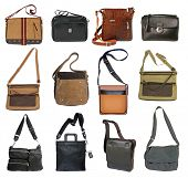 collection of men's bags