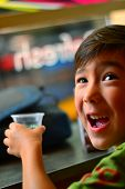 Boy enjoying a drink