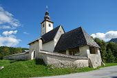 Church of St John the Baptist Bohinj Lake Slovenia