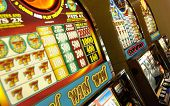 stock photo of slot-machine  - Slot Machine at the casino in excellent quality - JPG