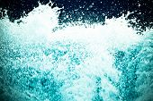 frothy water splash abstract background