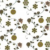 Flower Seamless Pattern Green