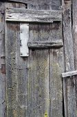 Old Aged Wooden Barn Door Background