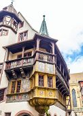 Beautiful Carved Balcony T A House In Little Venice In Colmar